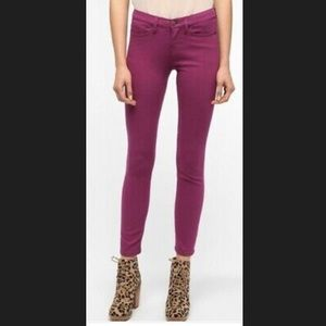 BDG Cigarette High Rise Skinny Purple Ankle Jeans